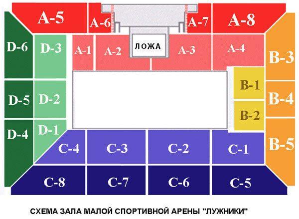 Схема зала малая арена