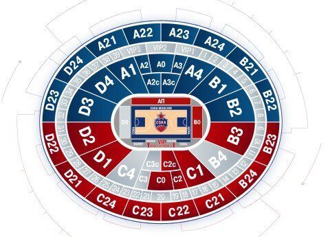 билеты на баскетбол цска - Мегаспорт