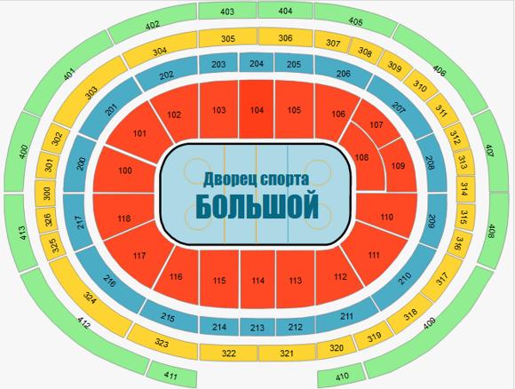 Билеты на хоккей  ЛД «Большой» Сочи